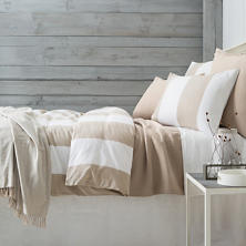 Spinnaker Stripe Natural Duvet Cover