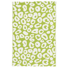 Spot Green Woven Cotton Rug