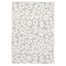 Spot Pearl Grey Woven Cotton Rug