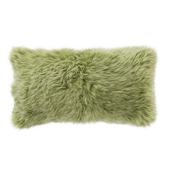 Spring Green Longwool Combed Pillow
