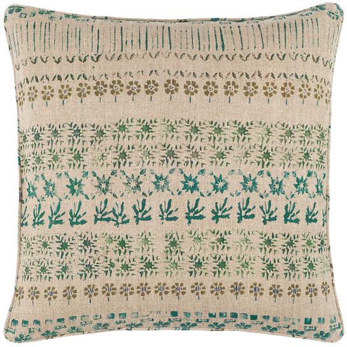 Spruce Linen Green Decorative Pillow