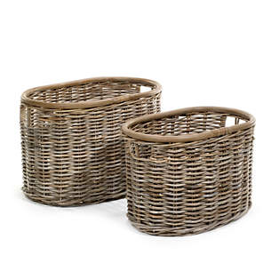 St Jean Oval Baskets/Set Of 2