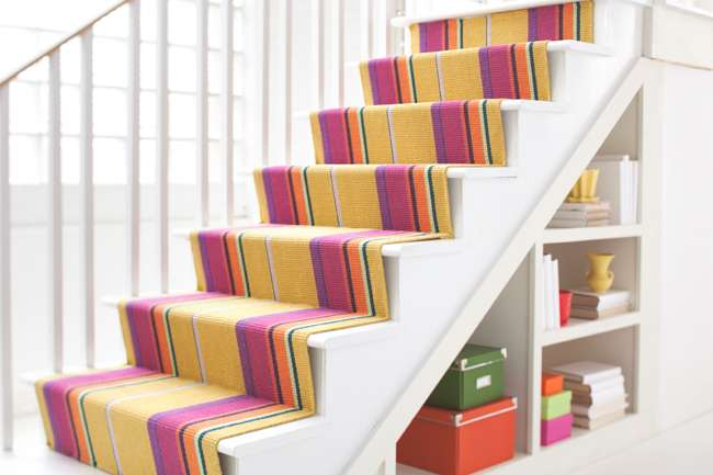 There Aren T Many Staircases That Couldn Benefit From A Colorful And Personality Packed Dash Albert Stair Runner Not To Mention Also