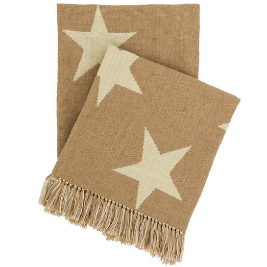 Star Camel/Ivory Indoor/Outdoor Throw