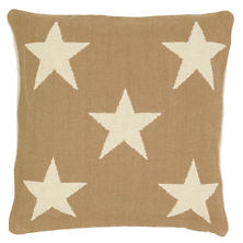 Star Camel/Ivory Indoor/Outdoor Pillow