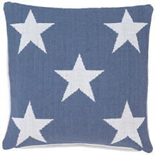 Star Denim/White Indoor/Outdoor Pillow