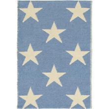 Star French Blue/Ivory Indoor/Outdoor Rug