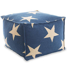 Star Navy/Camel Indoor/Outdoor Pouf