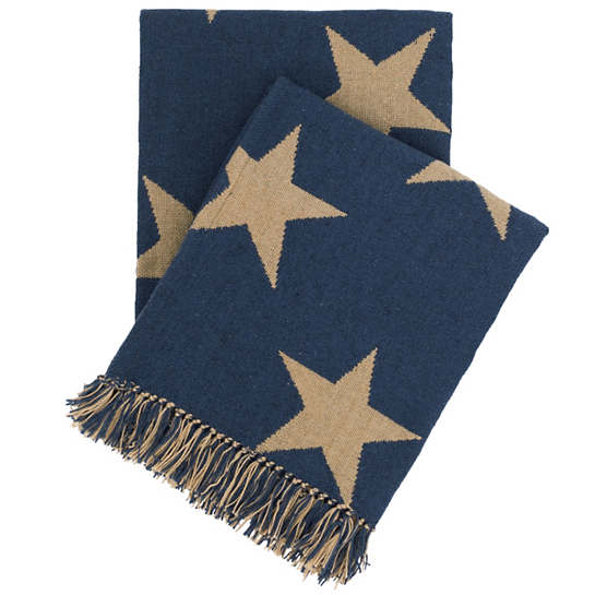 Star Navy/Camel Indoor/Outdoor Throw