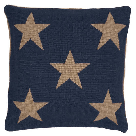 Star Navy/Camel Indoor/Outdoor Pillow