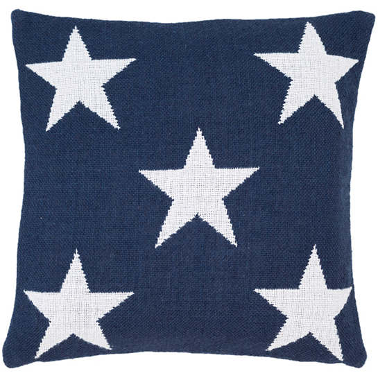 Star Navy/White Indoor/Outdoor Pillow
