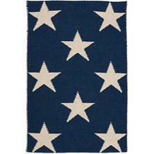 Star Navy/Ivory Indoor/Outdoor Rug