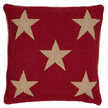 Star Red/Camel Indoor/Outdoor Pillow