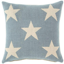 Star Swedish Blue/Ivory Indoor/Outdoor Pillow