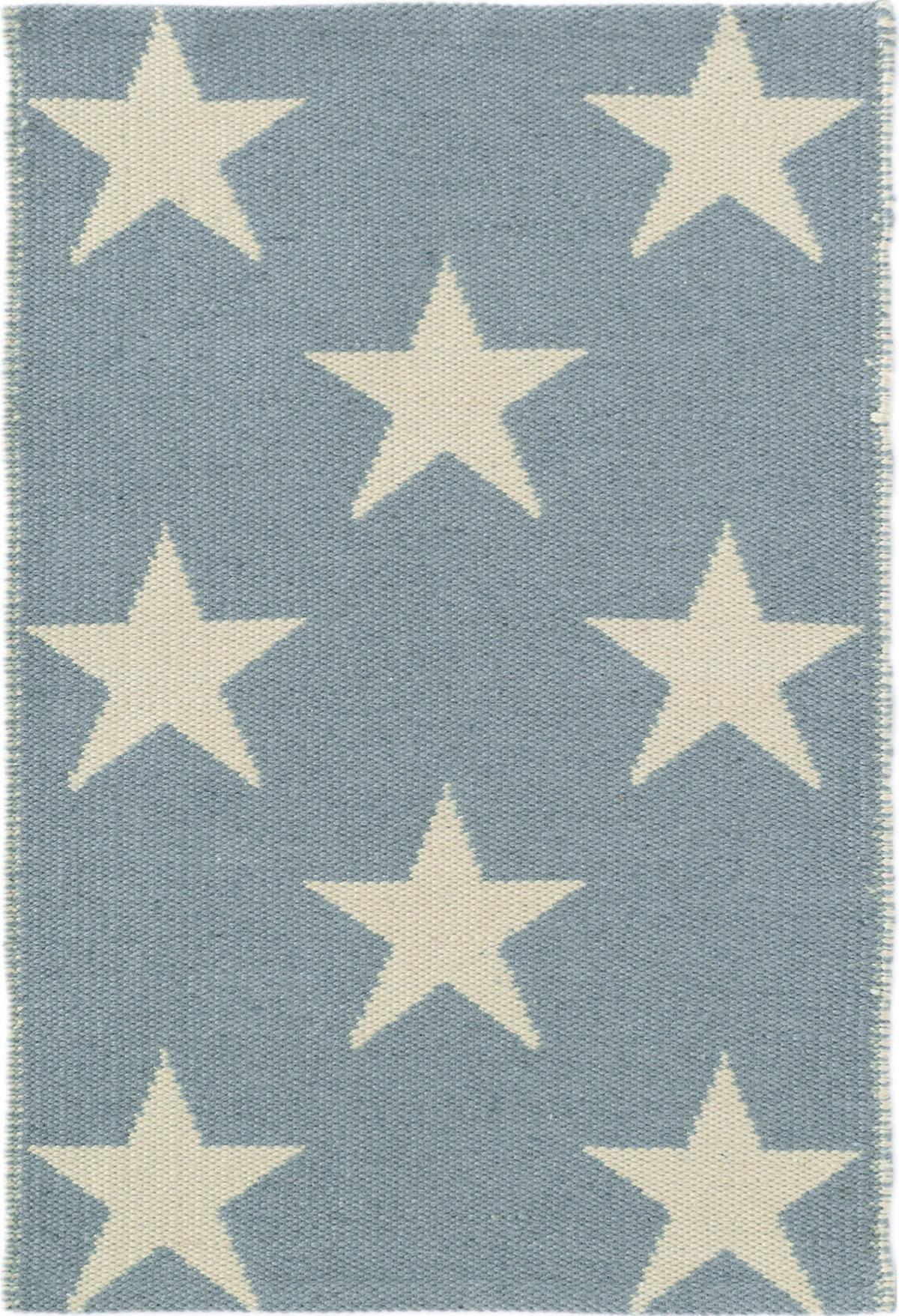 Star Swedish Blue/Ivory Indoor/Outdoor Rug