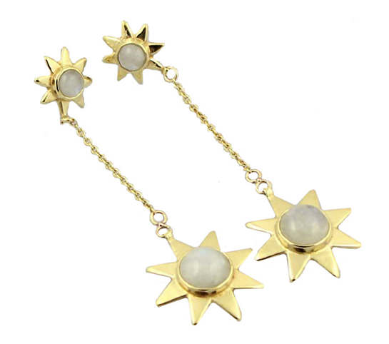 Starr Moonstone Drop Earrings