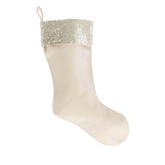 Sparkle Canvas Gold Stocking