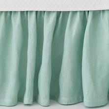 Stone Washed Linen Sky Paneled Bed Skirt