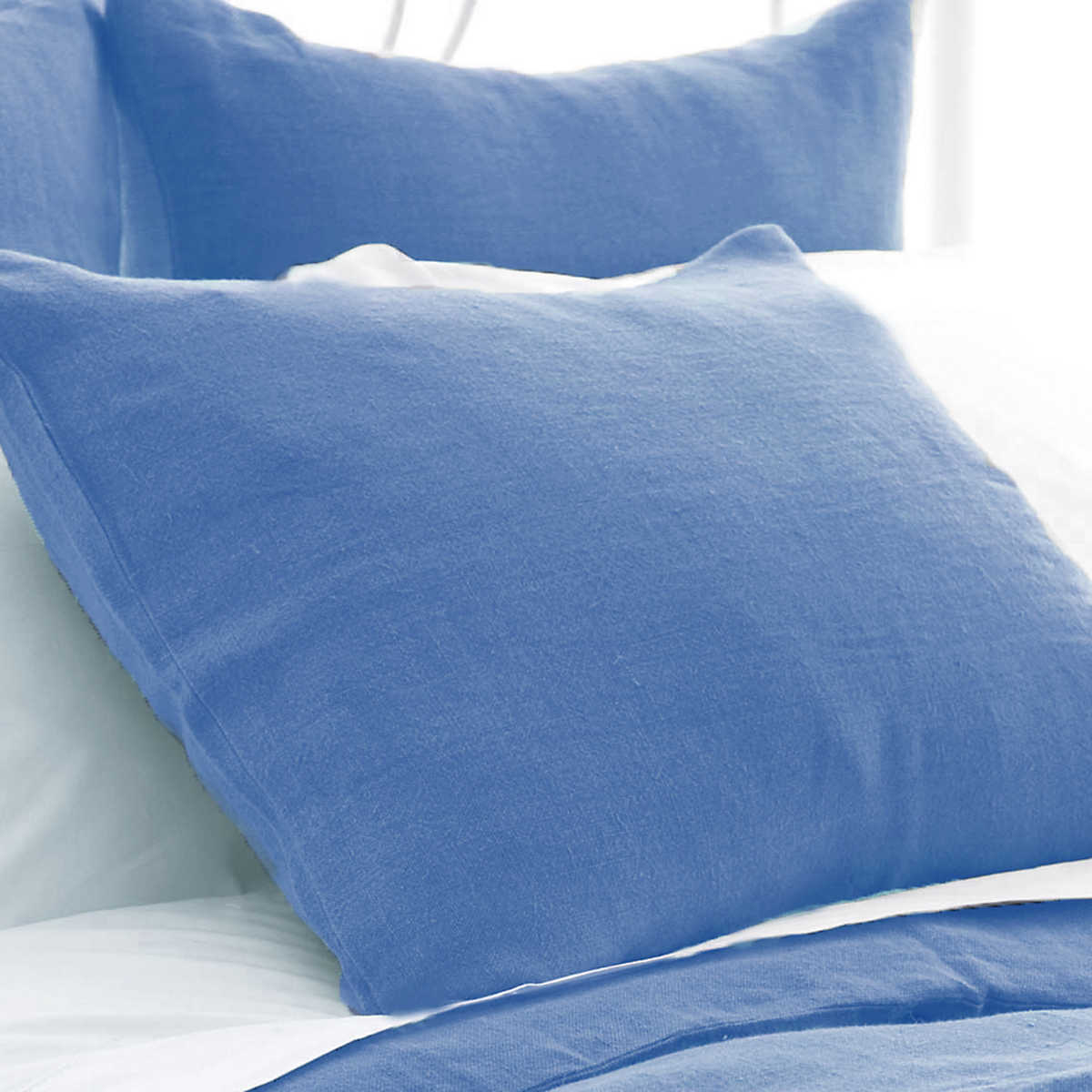Stone Washed Linen French Blue Sham The Outlet