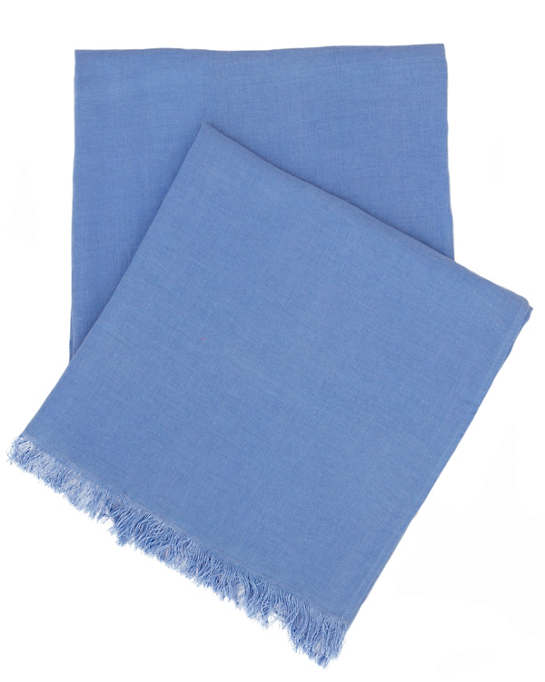 Stone Washed Linen French Blue Throw