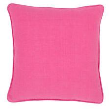 Stone Washed Linen Fuchsia Decorative Pillow