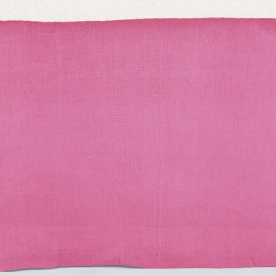 Stone Washed Linen Fuchsia Tailored Paneled Bed Skirt
