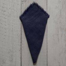 Stone Washed Linen Indigo Fringe Napkin