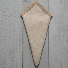 Stone Washed Linen Natural Fringe Napkin