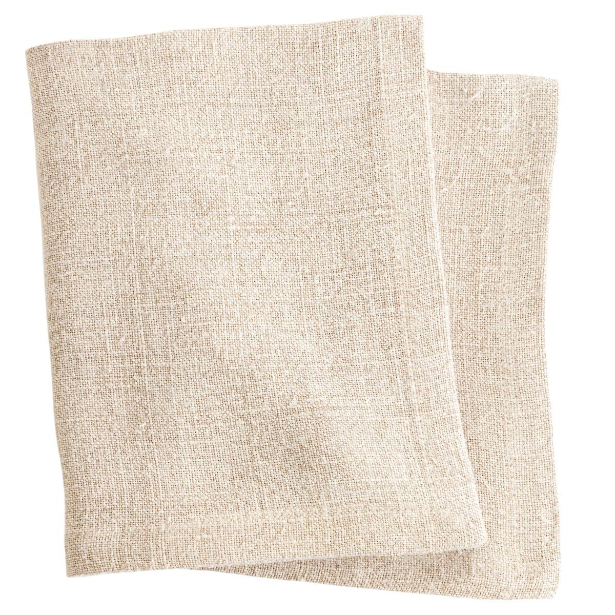 Stone Washed Linen Natural Napkin Set