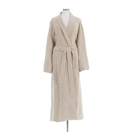 Stone Washed Linen Natural Robe