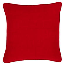 Stone Washed Linen Red Decorative Pillow
