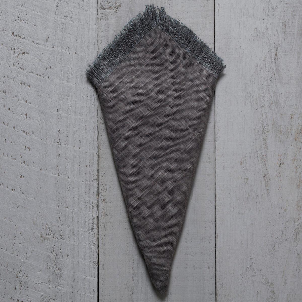Stone Washed Linen Shale Fringe Napkin