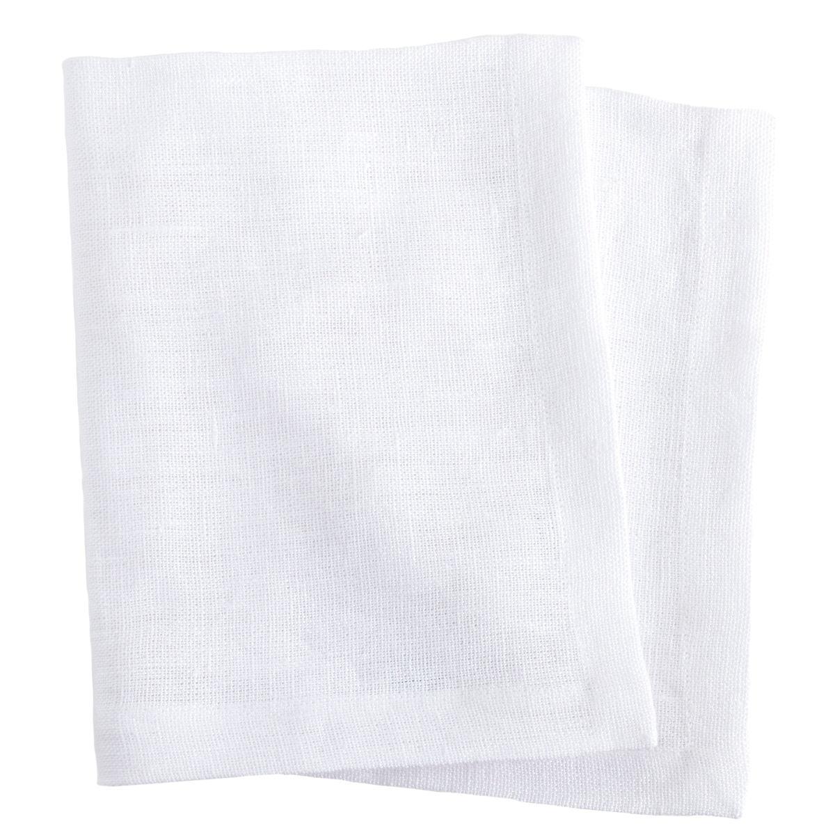 Stone Washed Linen White Napkin Set