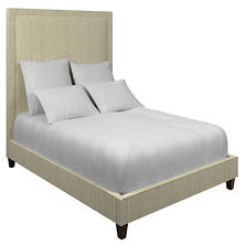 Adams Ticking Grey Stonington Bed