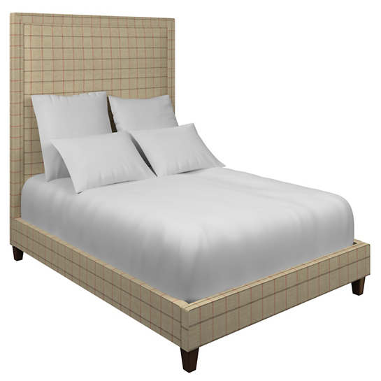 Chatham Tattersall Brick/Brown Stonington Bed
