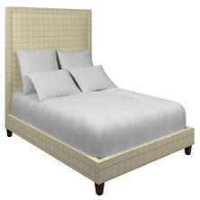 Chatham Tattersall Light Blue/Natural Stonington Bed