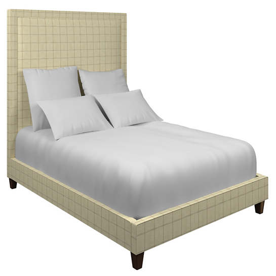 Chatham Tattersall Natural/Grey Stonington Bed