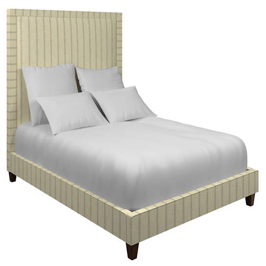 Glendale Stripe Light Blue/Natural Stonington Bed
