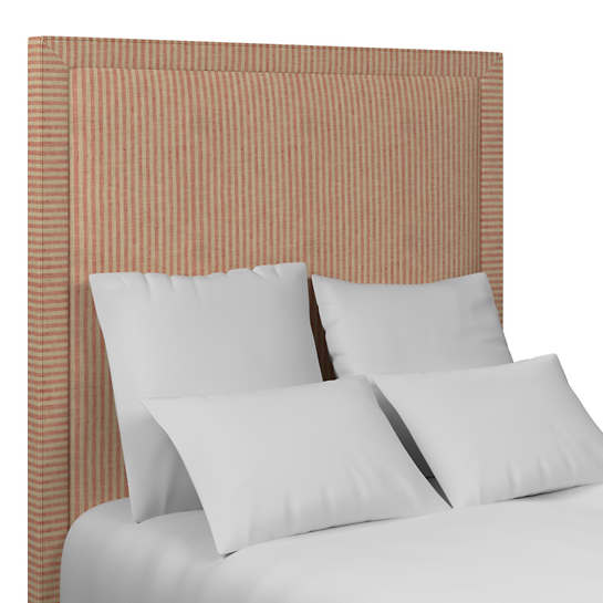 Adams Ticking Brick Stonington Headboard