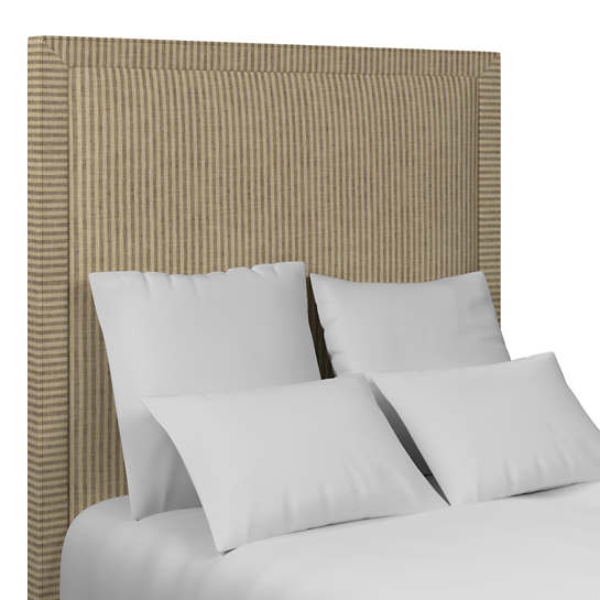 Adams Ticking Brown Stonington Headboard