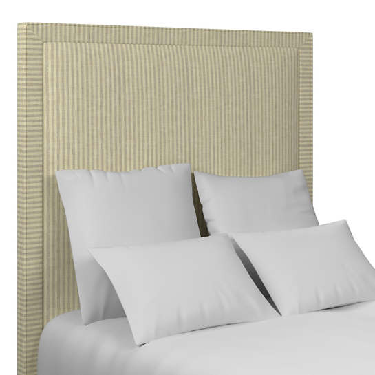 Adams Ticking Grey Stonington Headboard