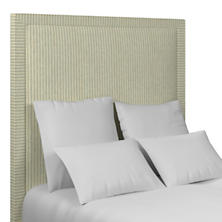 Adams Ticking Light Blue Stonington Headboard