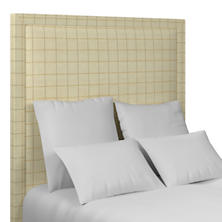 Chatham Tattersall Gold/Natural Stonington Headboard