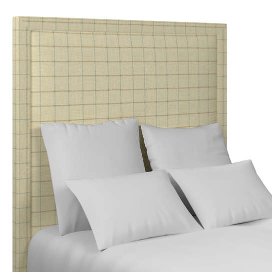 Chatham Tattersall Light Blue/Natural Stonington Headboard