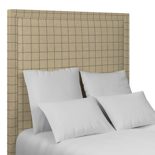 Chatham Tattersall Navy/Brown Stonington Headboard