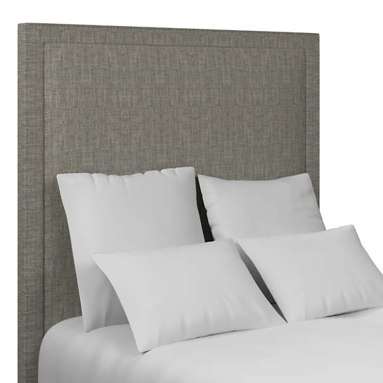Chevron Indigo Stonington Headboard
