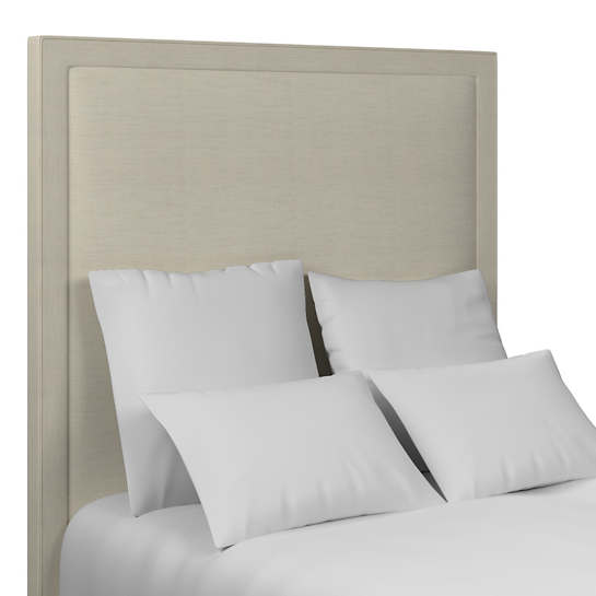 Estate Linen Pearl Grey Stonington Headboard