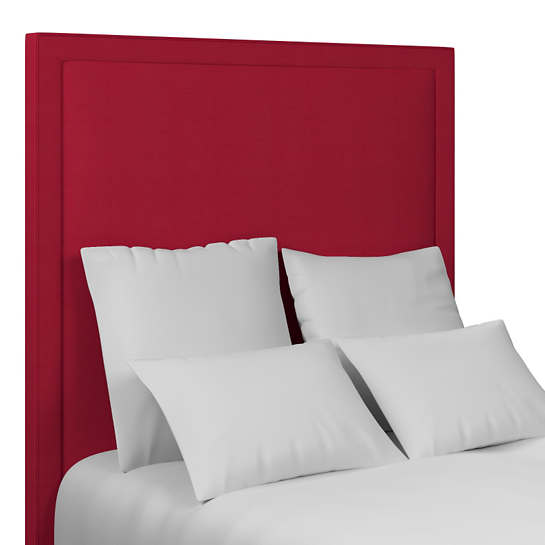 Estate Linen Red Stonington Headboard