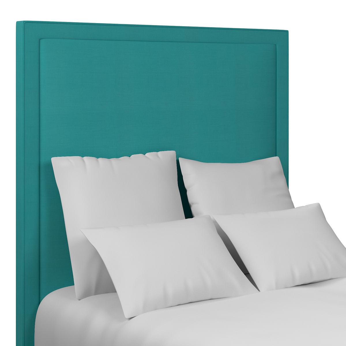 Estate Linen Turquoise Stonington Headboard