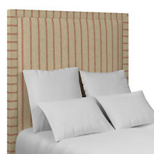 Glendale Stripe Brick/Brown Stonington Headboard